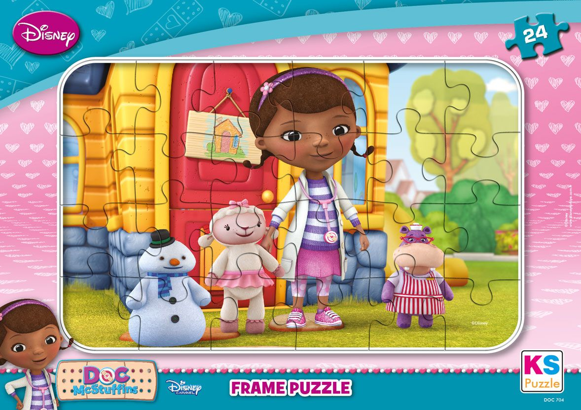 ks games doc mcstuffins 24 par al frame puzzle ks games ksgdoc704. Black Bedroom Furniture Sets. Home Design Ideas